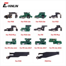 Lade Port Connector Board Teile Flex Kabel Mit Mikrofon Mic Für HuaWei P30 P20 Pro P10 P9 Plus Mini P8 lite 2017(China)