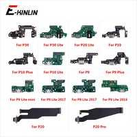 Partes del conector del puerto de carga Cable flexible con micrófono Mic para HuaWei P30 P20 Pro P10 P9 Plus Mini P8 lite 2017