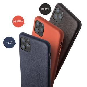 Image 5 - QIALINO יוקרה אמיתי עור טלפון כיסוי עבור אפל iPhone11 פרו מקסימום 6.5 אינץ אופנתי קל במיוחד בחזרה מקרה עבור iPhone 11 /11Pro