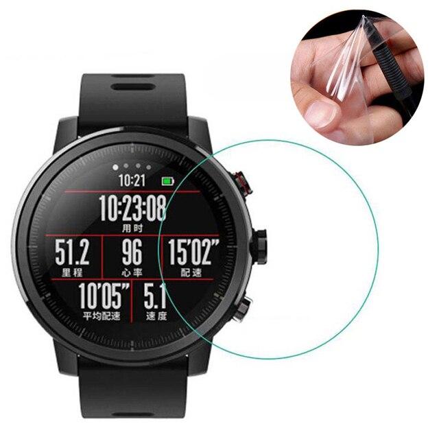 Weiche TPU Hydrogel Film Volle Bildschirm Abdeckung Schutz für Xiaomi Huami Amazfit Tempo Stratos Rande Lite Smart Uhr Schutzhülle Schutz