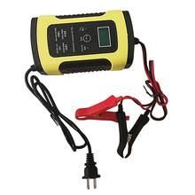 50% vendas quentes!!12v 6a display lcd fonte de alimentação carregador de bateria automático completo para o motor do carro