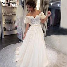 Элегантное свадебное платье sevintage в стиле бохо с открытыми