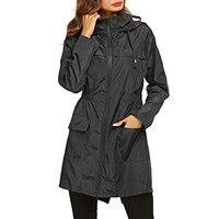 Лёгкая женская куртка-плащ непромокаемая походная верхняя одежда 1