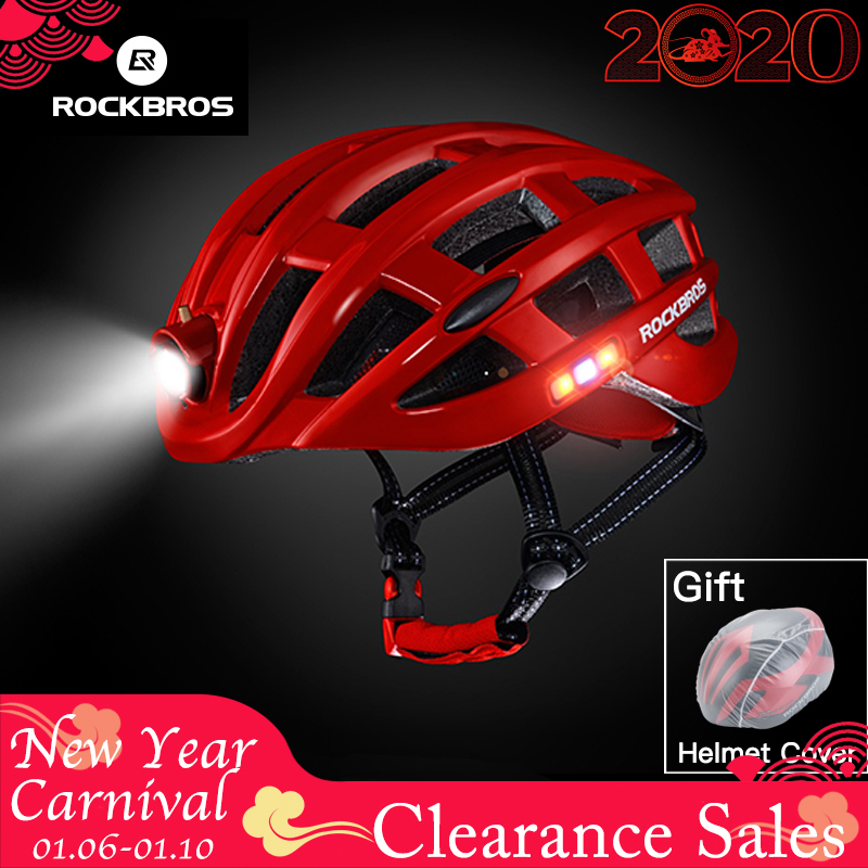 ROCKBROS étanche à la pluie vélo ultra-léger casque léger vélo casque intégralement moulé sûr 57-62cm montagne route vélo vtt casques
