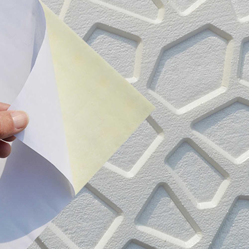 PE โฟมยืดหยุ่นโมเดิร์น 3D อิฐ DIY Wall Home Decor Self-adhesion สติกเกอร์ของขวัญห้องครัวทีวีฉากหลังตกแต่ง