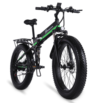 Electric Bike  1000W Mens Mountain Bike Snow Bike Folding Ebike MX01 Adult Electric Bicycle  Fat Tire e Bike 48V Lithium Battery 1