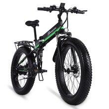 Bicicleta elétrica 1000w dos homens mountain bike bicicleta de neve dobrável ebike mx01 adulto bicicleta elétrica pneu gordura e bicicleta 48v bateria lítio