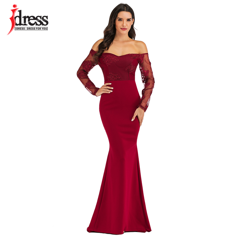 Idress Sexy Slash Neck Off Shoulder Designer Runway Dress Formal Prom Long Dress Women Lace Embroidery Evening Party Dress Long Dresses Aliexpress