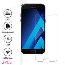 2 pieces tempered glass for Samsung A7 2017 A720 for screen protector A720 glass for Samsung A7 2017 A720 protective film