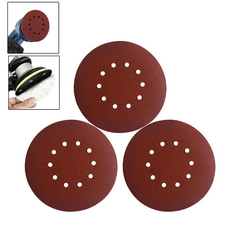 10 Pack 40 Grits 9 Inch /225MM Sanding Discs Orbital Sander Pads Backing Sandpaper Lot For Metal/wood/plastics/ Paint/fiberlgass