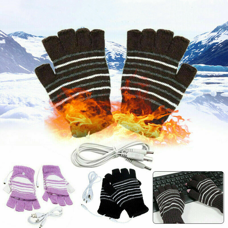 Unisex Winter Warmer USB Heated Gloves Thermal Hand Warmer Electric Heating Gloves