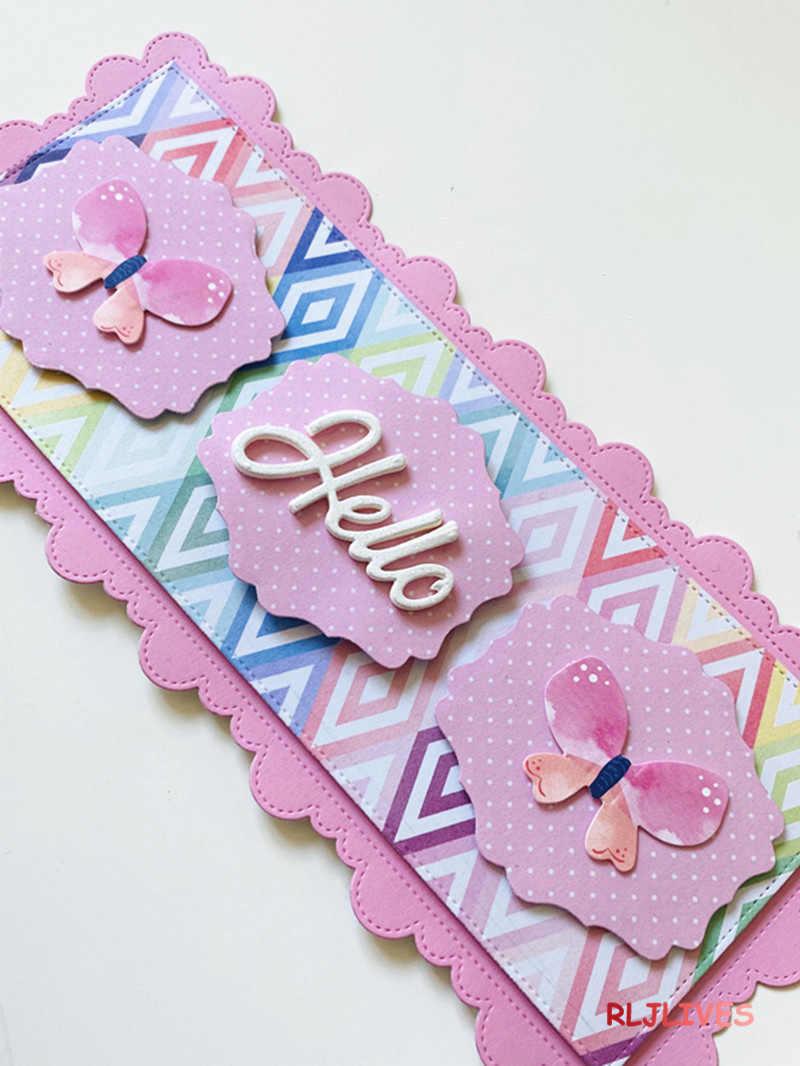 Slimline Metal Cutting Dies DIY Scrapbooking Card Stencil Paper Craft Handmade