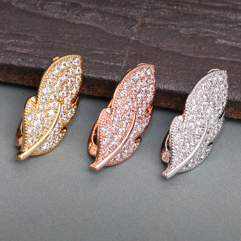 1Pcs 23.25*11.24mm Copper Metal Leaf Shaped Buckles Gold Silver Plating For Necklace Bracelet DIY Jewelry Making Findings 27202