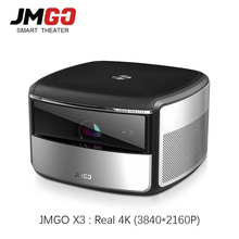 Jmgo X3 dlpプロジェクター4 18k 3840 × 2160 1080pスマートホームシアターandroidプロジェクターテレビ4 18k 3Dとbluetooth wifiビーマー
