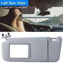 Lato Guida a sinistra Sun Visor Fit per il 2007 2011 Toyota Camry e Toyota Camry Hybrid Senza Tetto Apribile e La Luce  grigio/Bianco