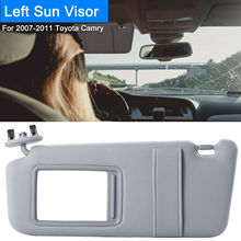 Left Driver Side Sun Visor Fit for 2007   2011 Toyota Camry & Toyota Camry Hybrid Without Sunroof and Light Gray/White