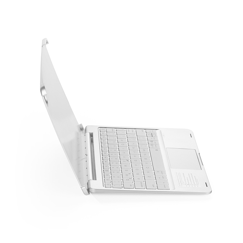 Silver White Wireless Smart Bluetooth Keyboard Case with Touchpad LED for iPad Pro 11 inch 2020 2nd Gen