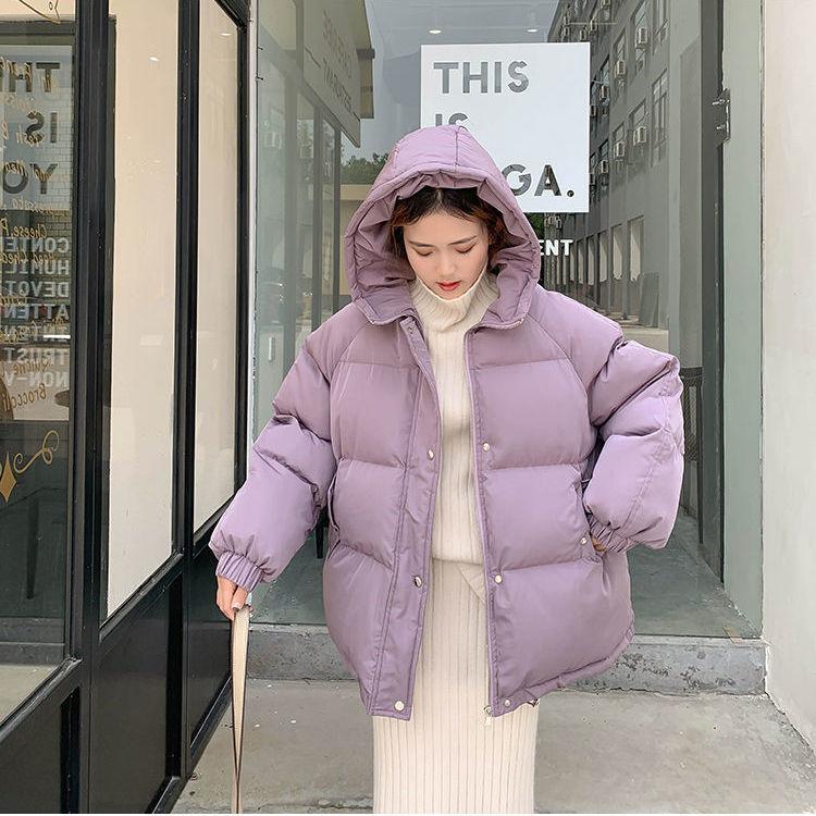 Новинка 2020, женская короткая куртка, зимнее толстое пальто с капюшоном и хлопковой подкладкой, женские корейские свободные парки, Женская о...