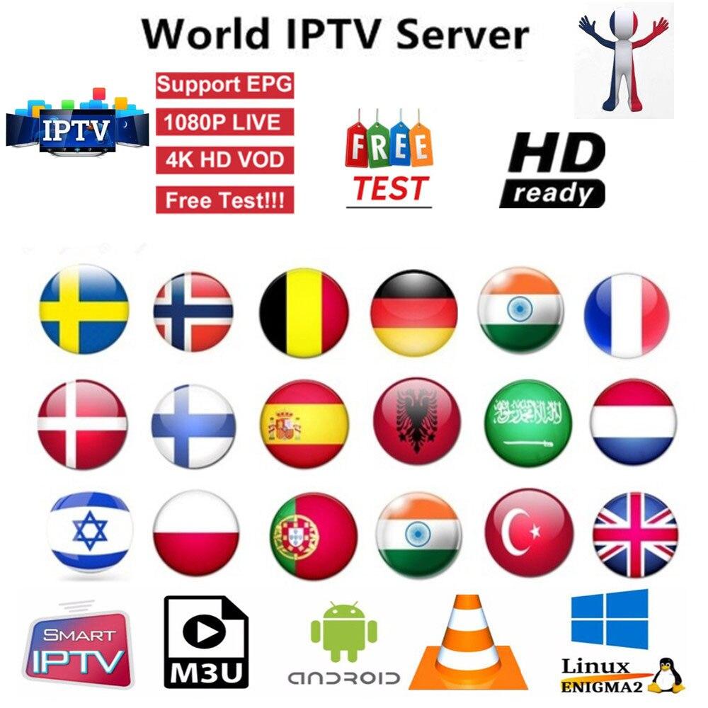 Europe HD IPTV Subscription 7500 Channels  Arabic Spain USA India Canadian Italian African  India Arab  Smart Tv M3U MA925