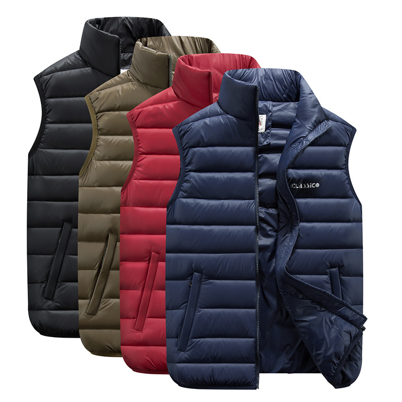 ZOGAA Autumn Winter Couple Models Lightweight Down Jacket Cotton Vest Large Size Down Cotton Vest Men Women Slim Fashion Vest