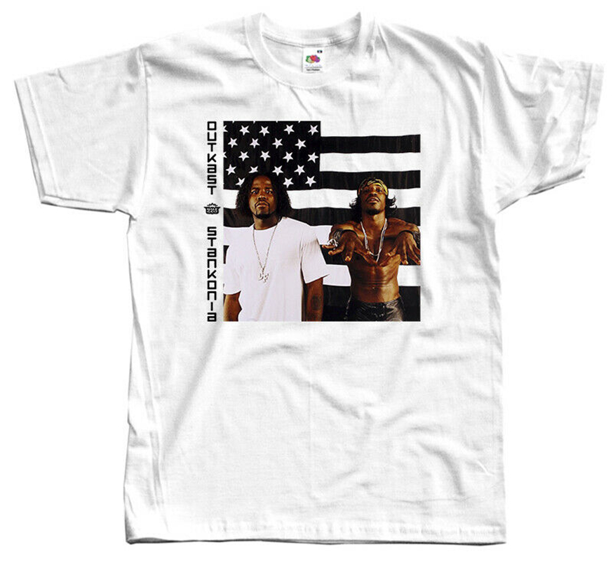Outkast - Stankonia, Album Cover,T-Shirt Dtg (White) S-5Xl Slogans Customized Tee Shirt image
