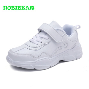 Image 3 - Kids Running Shoes Boys Rubber Sole Boys Walking Shoe Children Comfortable School Boy Sneakers Black Leather Sport Kid Shoes