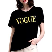 Vogue tshirt kobiety 2020 koreański styl ubrania kobiety z krótkim rękawem t-shirt kobiety luźne T shirt dla pani Casual topy koszulkę femme tanie tanio Fanker CN (pochodzenie) Wiosna jesień Poliester spandex REGULAR Suknem Drukuj HWT0002 NONE Na co dzień O-neck Women Black White Blue Gray