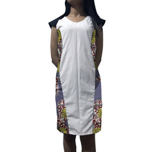 African dress patchwork kente outfit design custom made print/white womens Ankara clothing handmade Dashiki