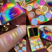UCANBE Duochrome Laser Polarized Eye Shadow Makeup Palette High-shine Glitter Highlighter Shimmer Brilliant Eyeshadow Powder