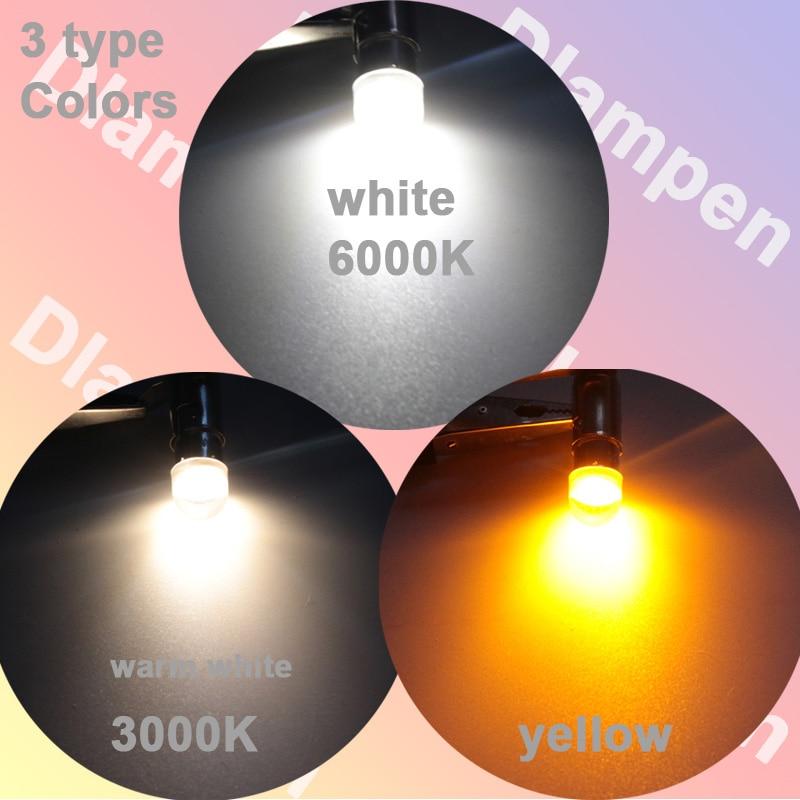 Купить с кэшбэком 2pcs ampolleta led bulb light BA9S T4W E10 0.3W 6V 12V 24V mini Interior Clearance Parking Number Plate Backup Indicator lights
