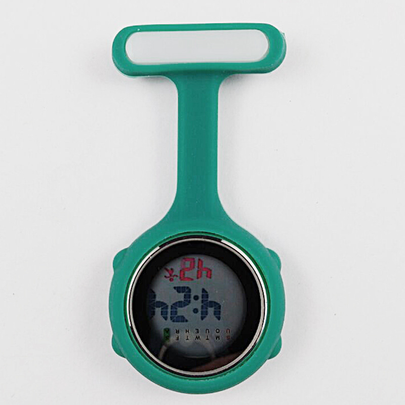 Часы для медсестры карманные часы силиконовые электронные светящиеся календарь желе часы модный тренд - Цвет: Многоцветный