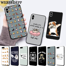 WEBBEDEPP Pug On Sale Luxury Silicone Case for Huawei P8 Lite 2015 2017 P9 2016 Mimi P10 P20 Pro P Smart 2019 P30 энциклопедия русской живописи