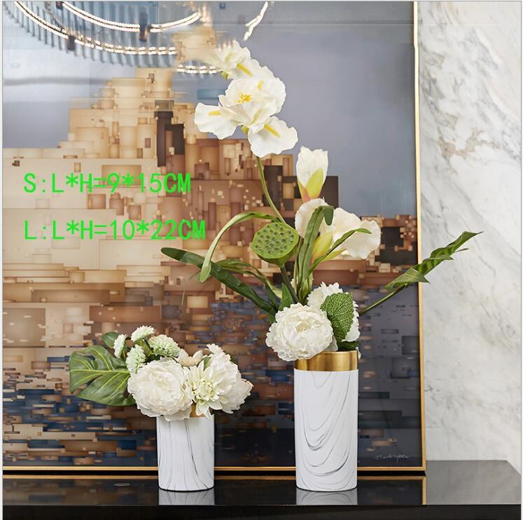 اناء الزهور السيراميكي المختلط ديكور و اكسسوارات