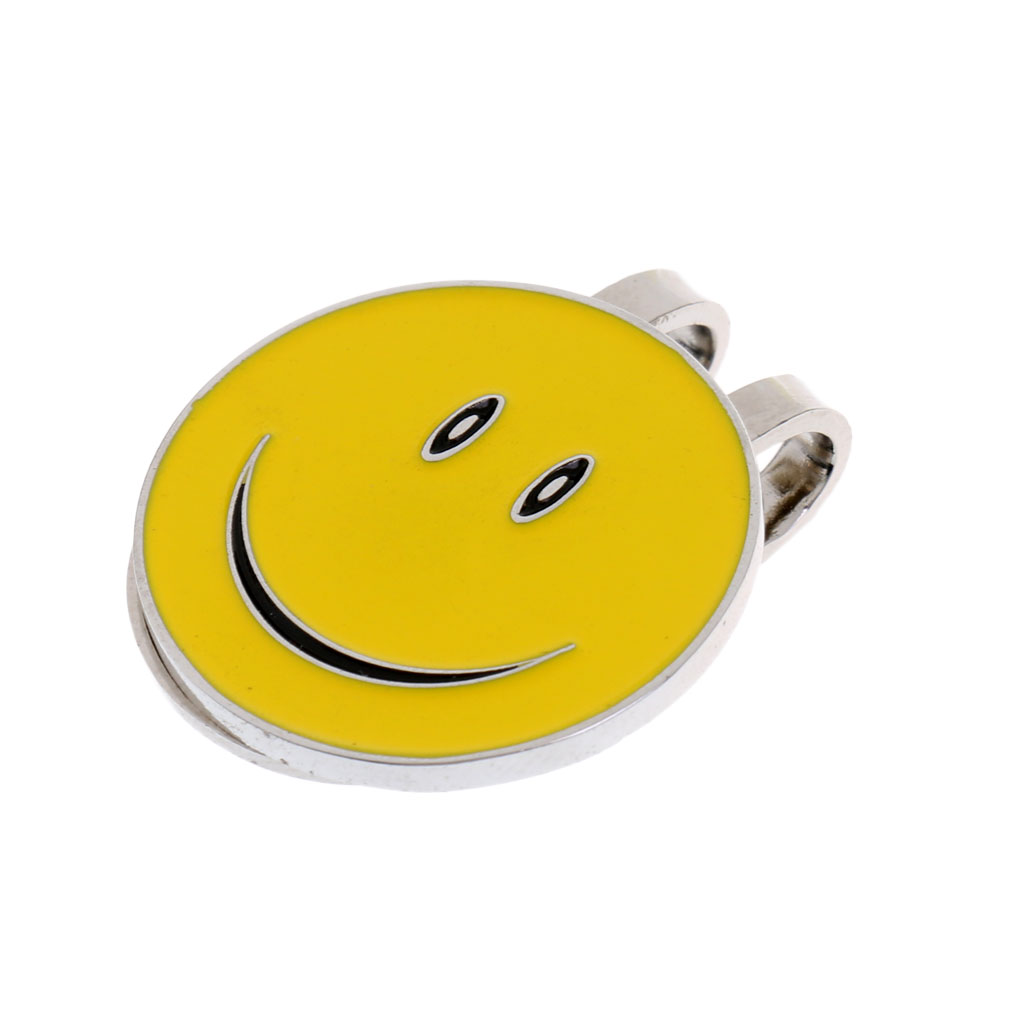 10 Pieces Lovely Smile Face And Classic Golfer Design Magnetic Visor Clip Golf Ball Markers