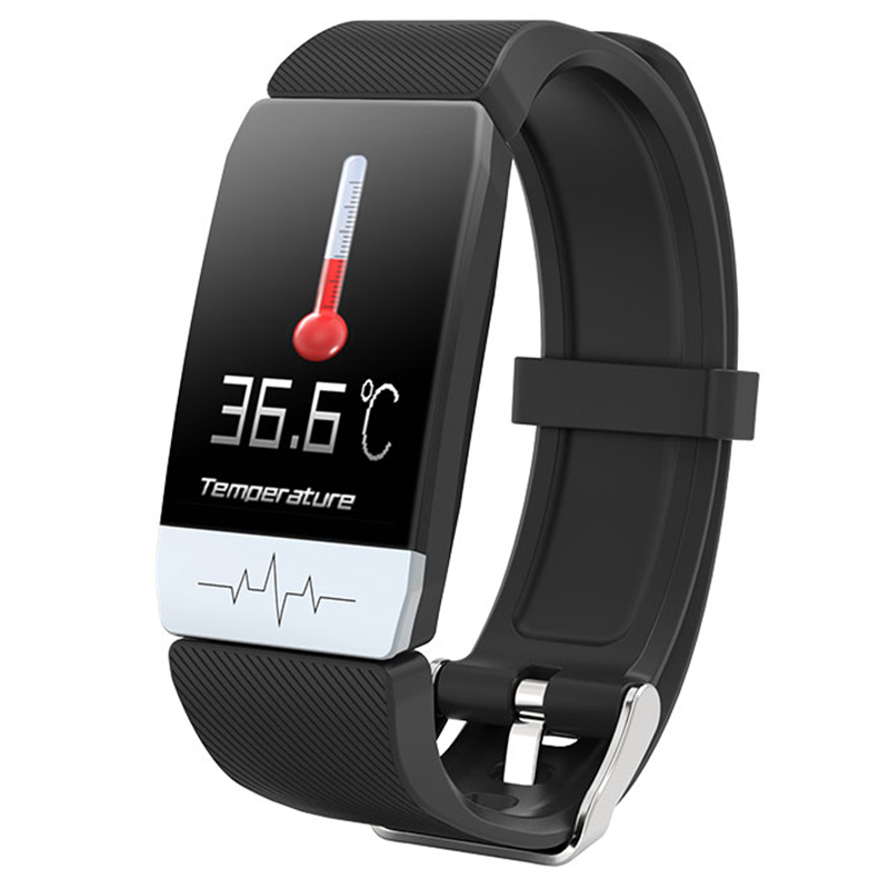 HKBZ Smart Watch  Body Temperature Measure Fitness Tracker Blood Pressure ECG Heart Rate Monitor Health Smart Watch