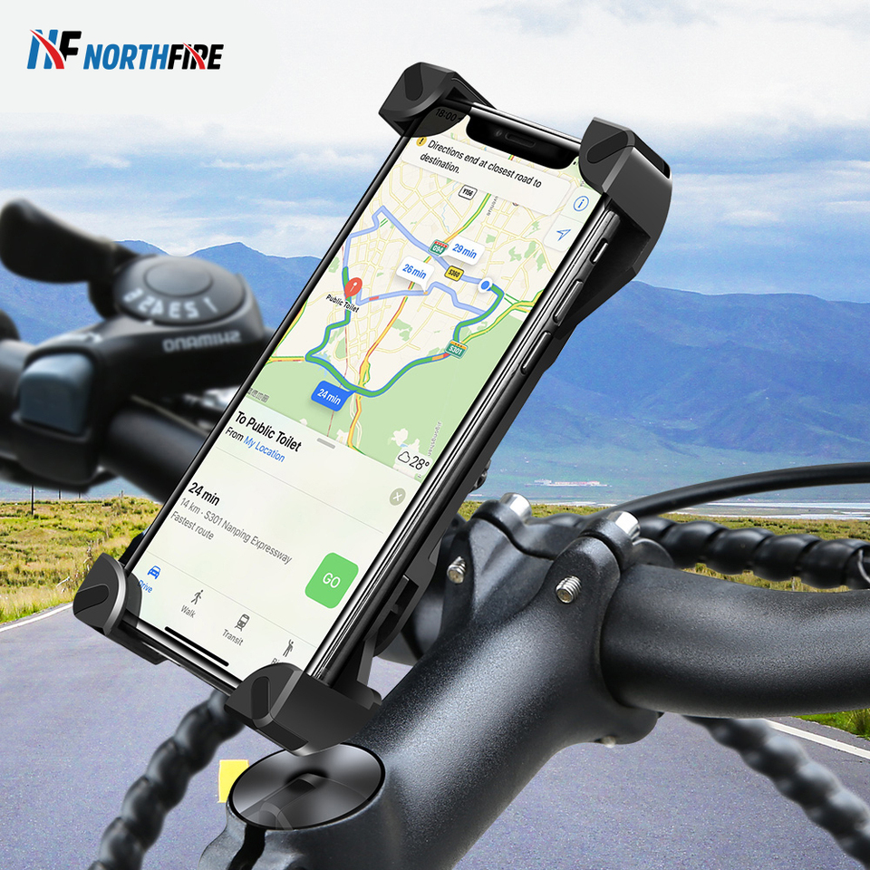 360° Handlebar Bracket Stand MTB Bike Mobile Phone Mount Holder Bicycle