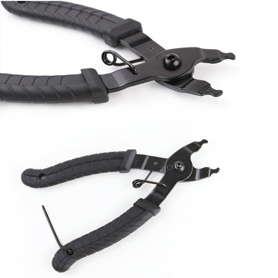 Crimping Tool Bicycle Chain Clamp Quick Link Button Mount Rivet Closure Overhaul Removal Install Plier Bike Repair Service Tool Tool Kit