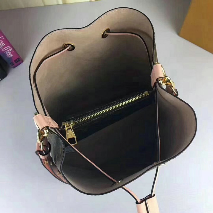 Image 2 - Luxury Bag Luis Vuiton Neo Bucket Bag  For Women 2019 Top Quality Designer leather Shoulder Bag Fashion Noe Shopper Bag Women-in Shoulder Bags from Luggage & Bags