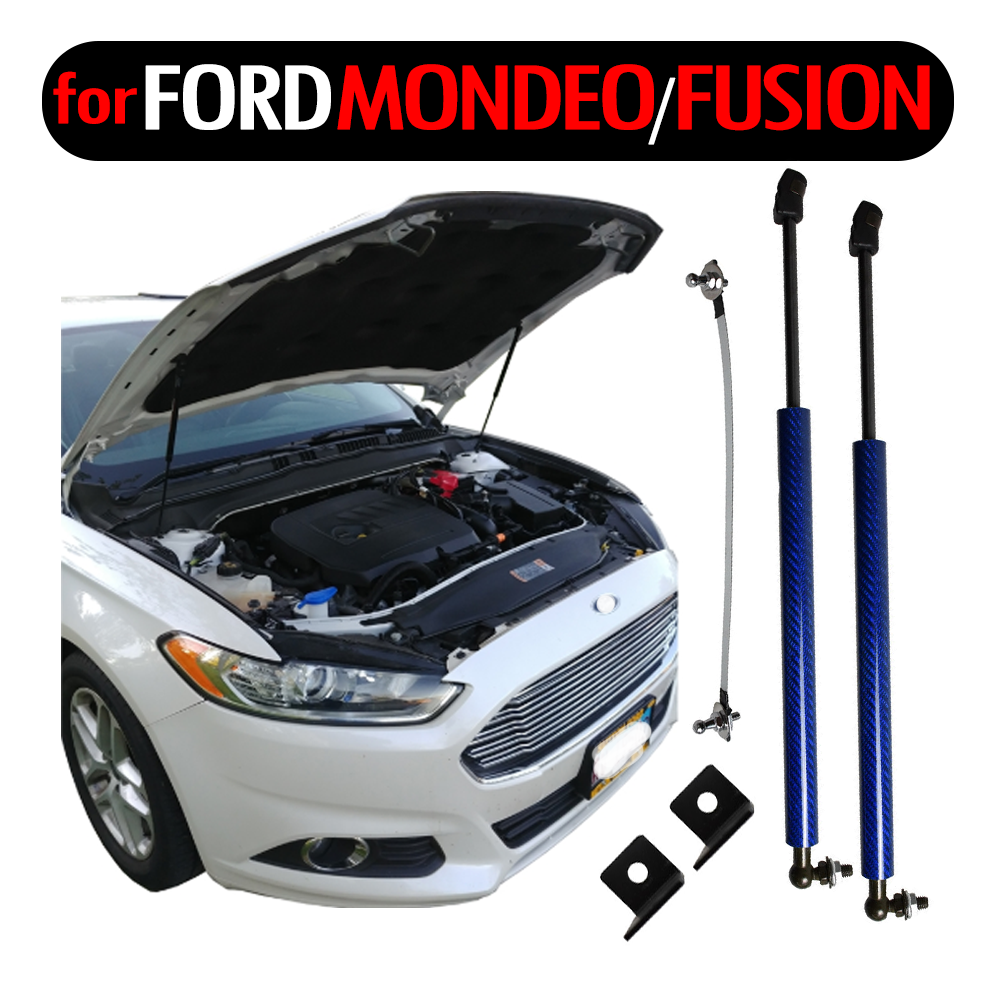 Bonnet Gas-Strut-Bars Ford Fusion Mondeo Mk5 Lift-Support Shock-Damper Hood Carbon-Absorber