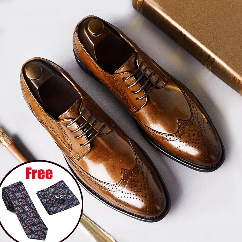 Phenkang رجل الرسمي الأحذية جلد طبيعي أكسفورد أحذية للرجال الأسود 2019 اللباس أحذية الزفاف الأربطة الجلود تصليحه-في أحذية رسمية من أحذية على  مجموعة 1