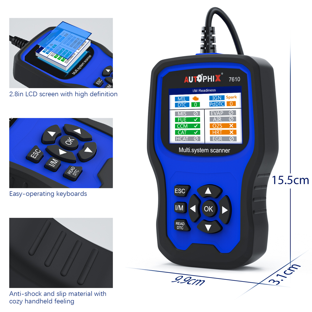 Image 5 - Autophix 7610 OBD2 Auto Scanner for Audi Skoda Seat ABS SRS Airbag Oil EPB DPF TPMS Reset Car Diagnostic Tool OBD2 Scanner ODB on