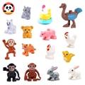 Большой конструктор «сделай сам», аксессуары для цыплят, обезьяны, свиньи, кошки, кролика, совместимая игрушка, кирпичная игрушка для детей, ...