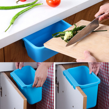 1pcs Creative multi-function can hang kitchen desktop trash can, easy to clean garbage bag tool assistant zero waste