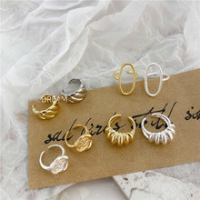 Retro Ring Designs Cut Out Three Layered Chain Rings Multi Link Irregular Open For Women Minimalist Adjustable 2020