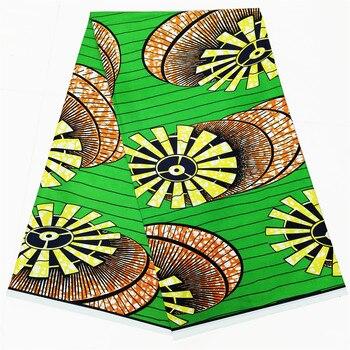 Ankara prawdziwy wosk tkaniny tkanina we wzory typu African wax Nigeria wrapper 100% czystej bawełny
