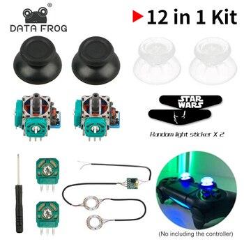 цена Data Frog 2 Pcs 3D Analog Axis 3D Joystick Module Potentiometer With 2xBlack Thumbsticks For Playstation 4 PS4 Controller Repair онлайн в 2017 году