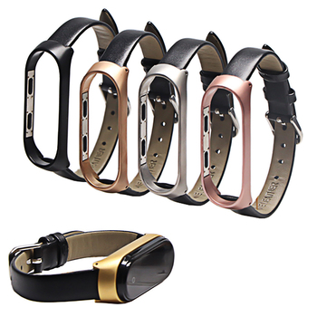 Colorful Leather Black Rose Gold Case Smart Watch band for Xiaomi Mi Band 4/3 strap For xiaomi mi 4 bracelet Miband Strap