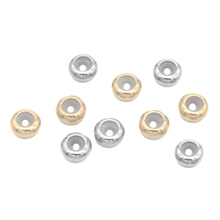 10pcs/lot Dia 8 10mm Big Hole Stainless Steel Beads with Silicone Gold /Steel Color Spacer Beads for Diy Jewelry Making Findings x royal 10pcs lot stainless steel diy jewelry making findings cross shape loose beads 5 8mm small hole gold rose gold metal bead