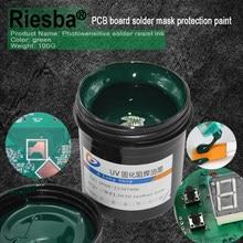 Inks fotossensíveis uv super pcb, verde, branco, azul, vermelho ou preto pcb uv curável solder resistir tinta, máscara de solda tinta uv