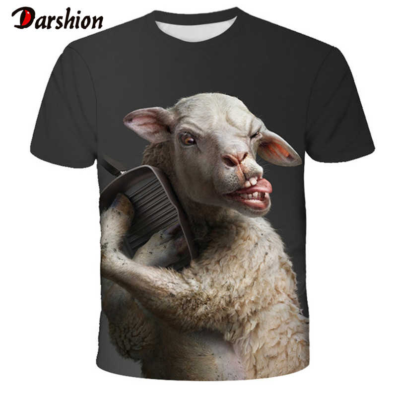 Sommer 3D Neuheit Tier Lustige T Hemd Schwein Schafe Serie Gedruckt T-shirt Männer Frauen Harajuku Stil T-shirt Sommer Tops